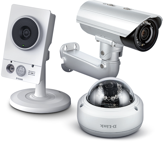 Static, bullet, and dome IP surveillance cameras