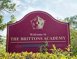 Academy sign of school