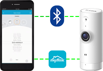 Setting up the DCS-8000LH with the mydlink app and bluetooth
